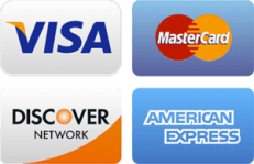 We accept cash, checks, debit and credit cards VS MC AX DC