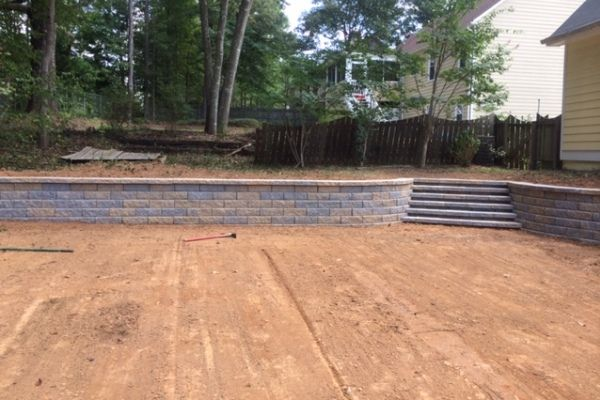 Retaining Wall and Yard Leveling