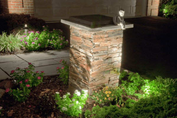 Landscape lighting by Crawford Landscaping in Marietta GA