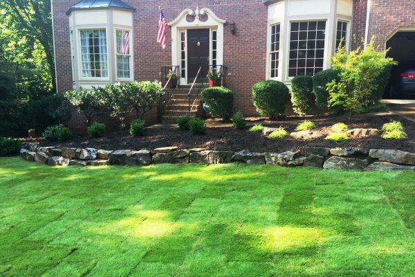 Lawn maintenance services by Crawford Landscaping in Marietta GA