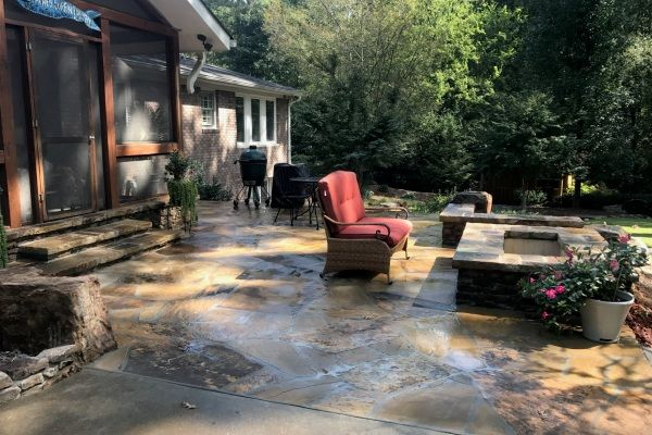 Outdoor firepalces by Crawford Landscaping in Marietta GA