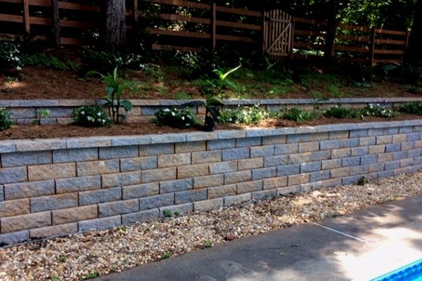 Retaining walls by Crawford Landscaping in Marietta GA